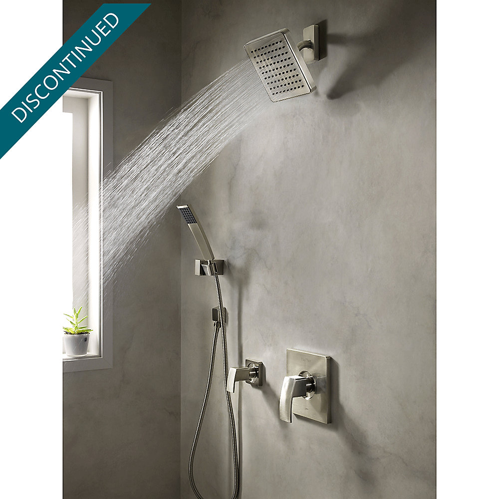 Brushed Nickel Kenzo 1-Handle Tub & Shower, Trim Only - R89-8DFK ...