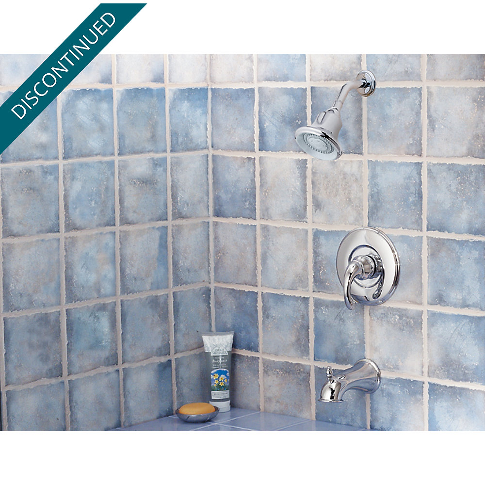 Polished Chrome Treviso 1-Handle Tub & Shower, Trim Only - R89-8DC0 ...