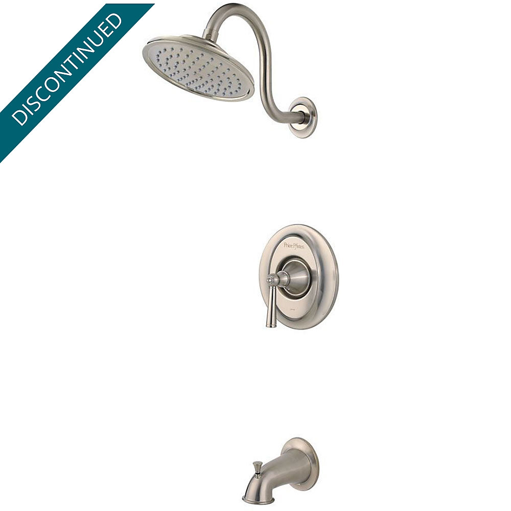 Brushed Nickel Saxton 1-Handle Tub & Shower, Trim Only - R89-8GLK ...