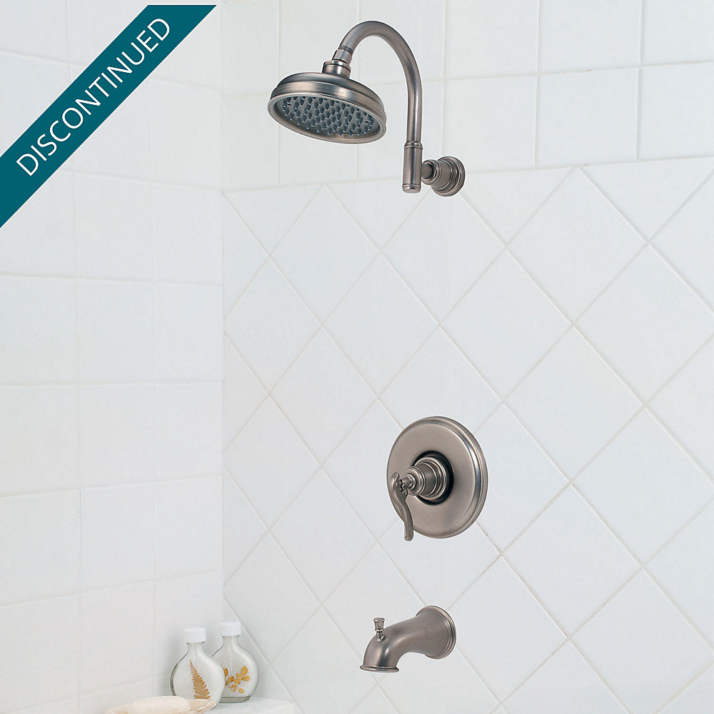 Rustic Pewter Ashfield Tub & Shower Combo - R89-8YPE | Pfister Faucets