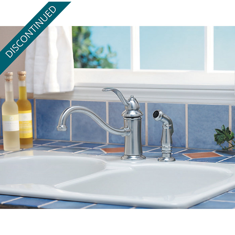 Stainless Steel Marielle 1-Handle Kitchen Faucet - T34-4TSS ...