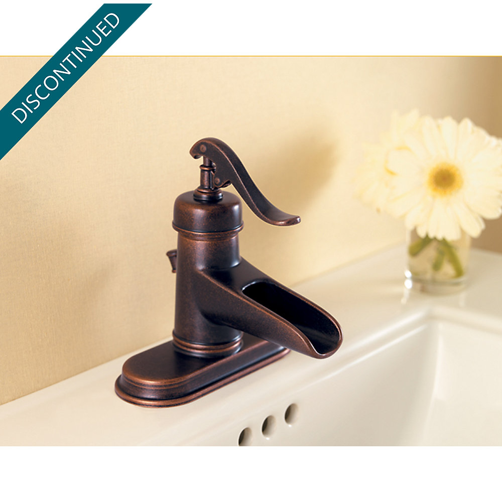 Rustic Bronze Ashfield Single Control, Centerset Bath Faucet - T42 ...