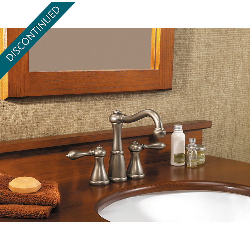 Rustic Pewter Marielle Mini-Widespread Bath Faucet - T46-M0BE ...