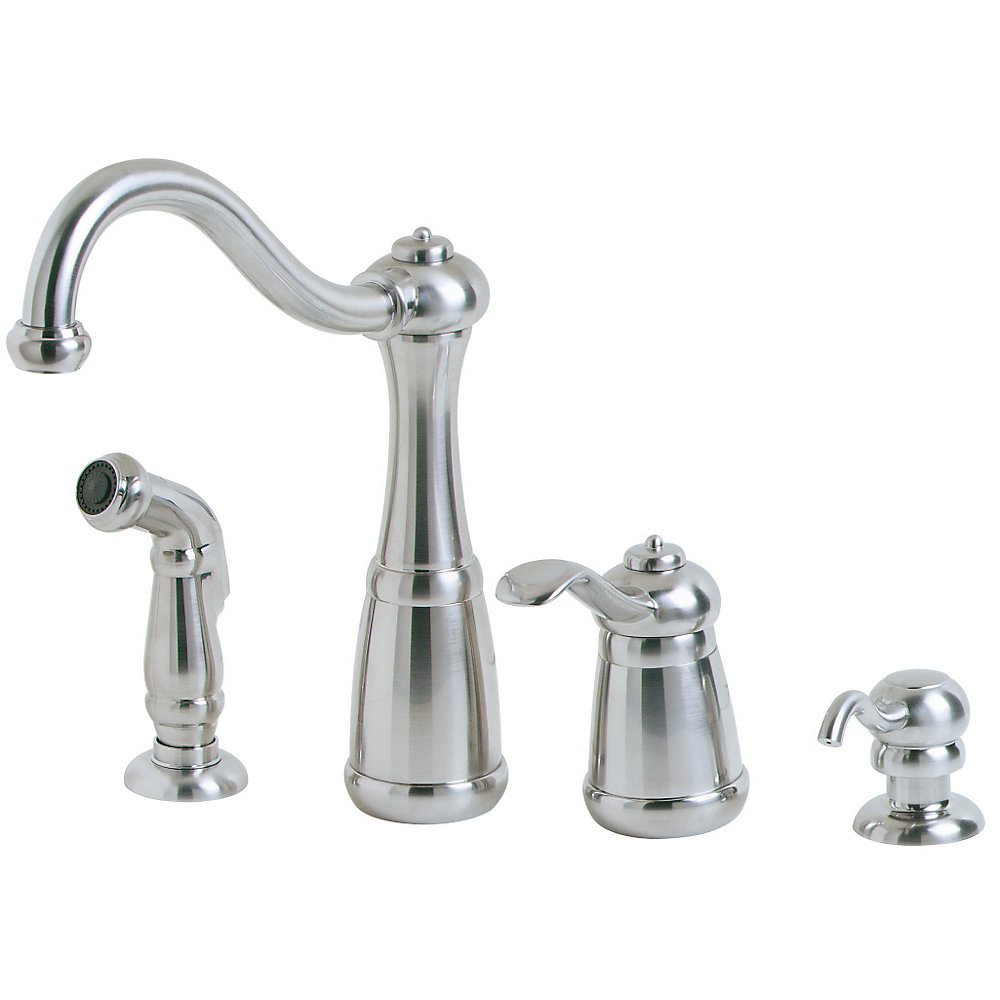 Stainless steel marielle 1 handle kitchen faucet lf 026 4nss 1