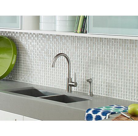 Stainless Steel Solo 1-Handle Kitchen Faucet - LF-029-4SLS - 3
