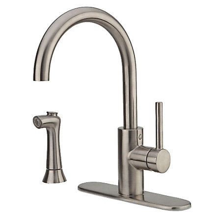 Stainless Steel Solo 1-Handle Kitchen Faucet - LF-029-4SLS - 2