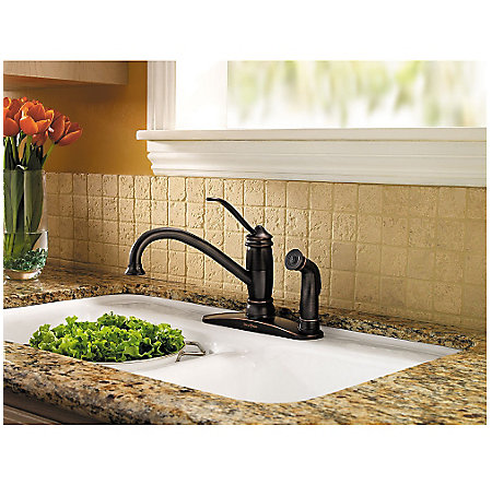 Tuscan Bronze Brookwood 1-Handle Kitchen Faucet - LF-034-3ALY - 2