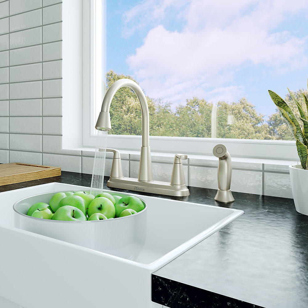 Spot Defense Stainless Steel Allegan 2-Handle Kitchen Faucet - F-036 ...