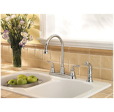 Polished Chrome Avalon 2-Handle Kitchen Faucet - LF-036-4CBC - 3