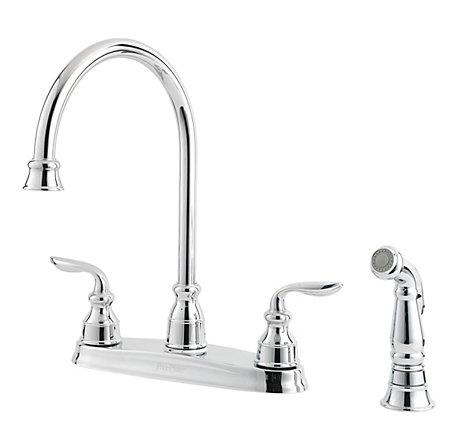 Polished Chrome Avalon 2-Handle Kitchen Faucet - LF-036-4CBC - 1