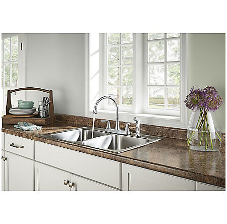Polished Chrome Cantara 2-Handle Kitchen Faucet - F-036-4CRC - 3