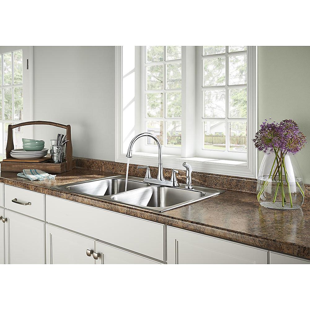 Polished Chrome Cantara 2-Handle Kitchen Faucet - F-036-4CRC ...