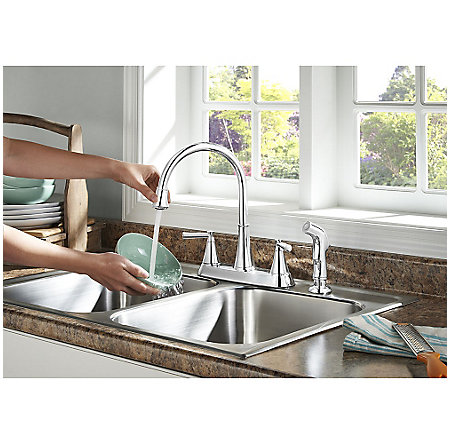 Polished Chrome Cantara 2-Handle Kitchen Faucet - F-036-4CRC - 5