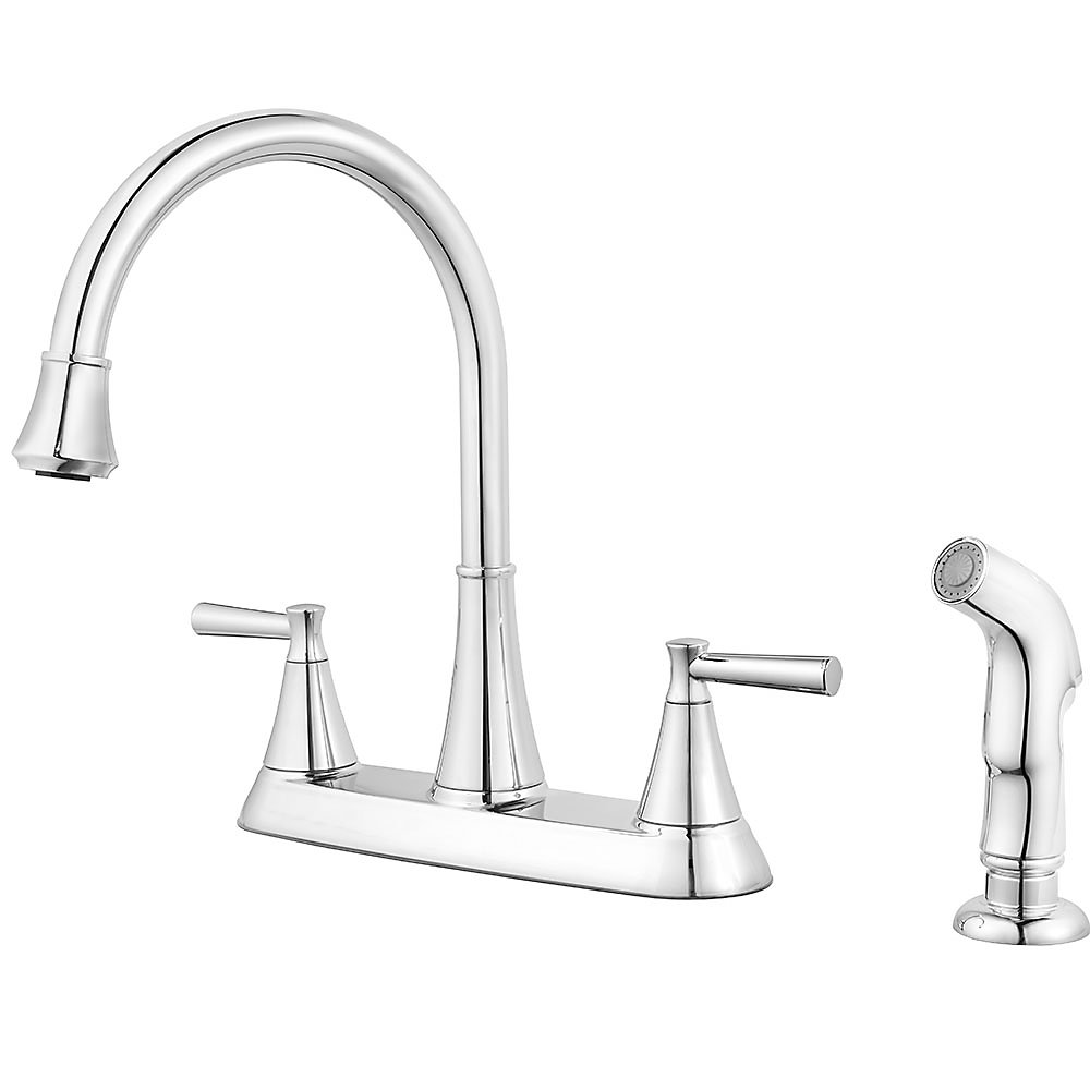 Polished Chrome Cantara 2 Handle Kitchen Faucet   F 036 4CRC   1