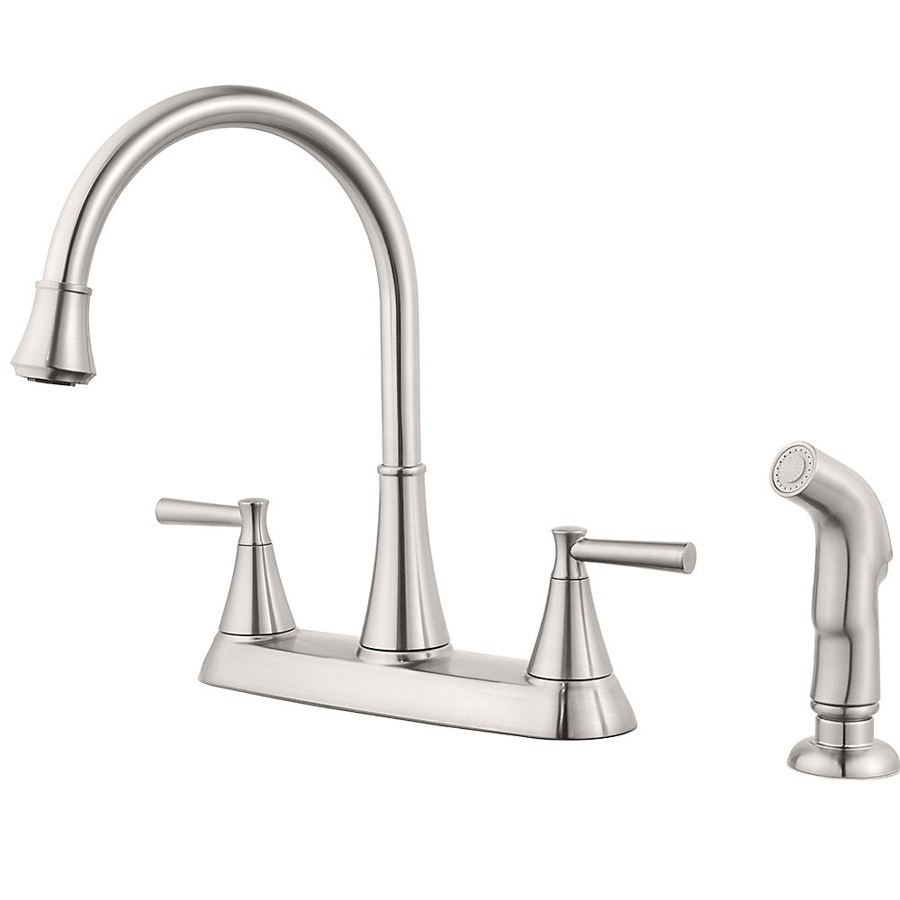 Stainless Steel Cantara 2-Handle Kitchen Faucet - F-036-4CRS ...