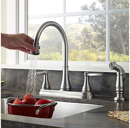 Stainless Steel Glenfield 2-Handle Kitchen Faucet - F-036-4GFS - 4