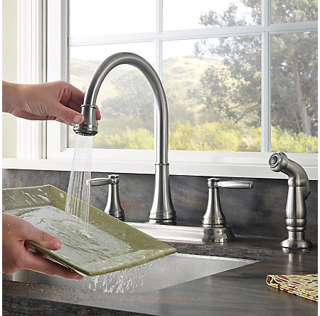 Stainless Steel Glenfield 2-Handle Kitchen Faucet - F-036-4GFS - 5