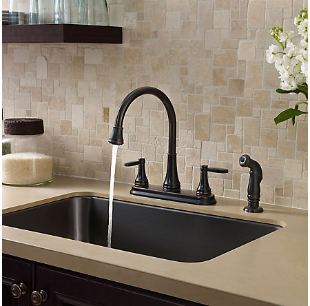Tuscan Bronze Glenfield 2-Handle Kitchen Faucet - F-036-4GFY - 3