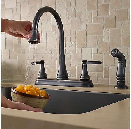 Tuscan Bronze Glenfield 2-Handle Kitchen Faucet - F-036-4GFY - 5