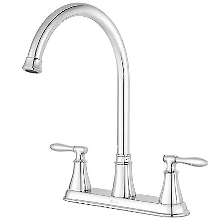 Polished Chrome Glenora 2-Handle Kitchen Faucet - F-036-4GNC - 2