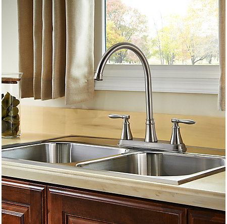 Stainless Steel Glenora 2-Handle Kitchen Faucet - F-036-4GNS - 4