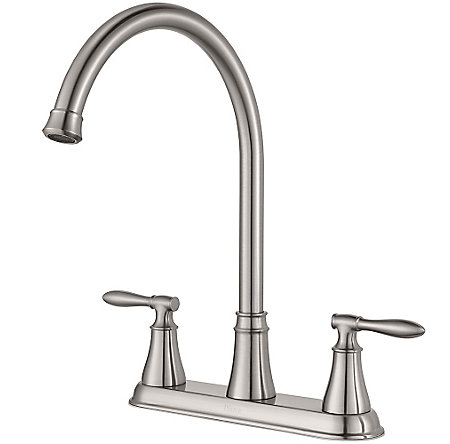 Stainless Steel Glenora 2-Handle Kitchen Faucet - F-036-4GNS - 2