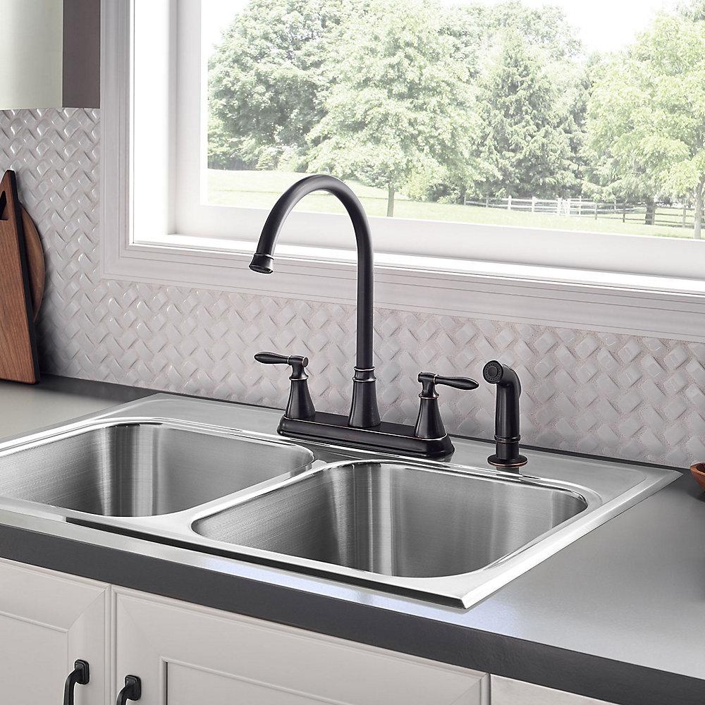 Tuscan Bronze Glenora 2-Handle Kitchen Faucet - F-036-4GNY | Pfister ...