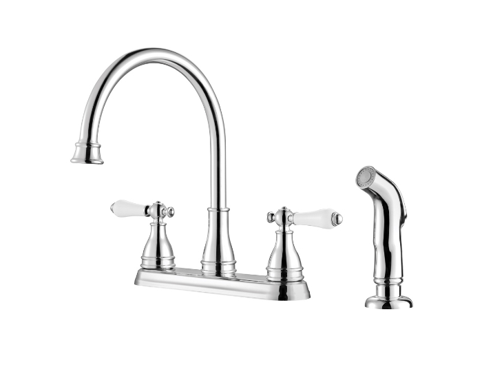 Polished Chrome Sonterra 2-Handle Kitchen Faucet - F-036-4SNC ...