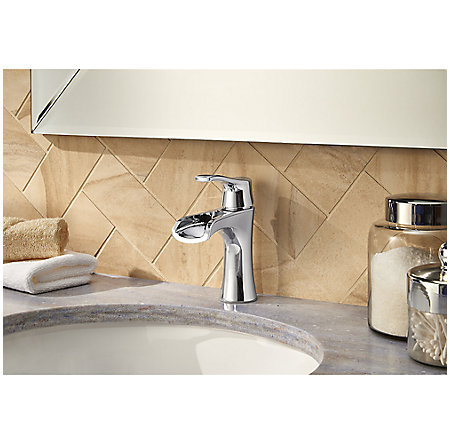 Polished Chrome Aliante Single Control, Centerset Bath Faucet - LF-042-ATCC - 3