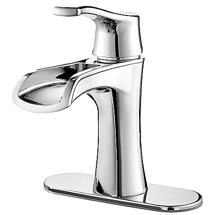 Polished Chrome Aliante Single Control, Centerset Bath Faucet - LF-042-ATCC - 2