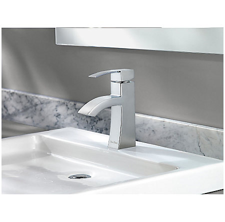 Polished Chrome Bernini Single Control, Centerset Bath Faucet - LF-042-BNCC - 4