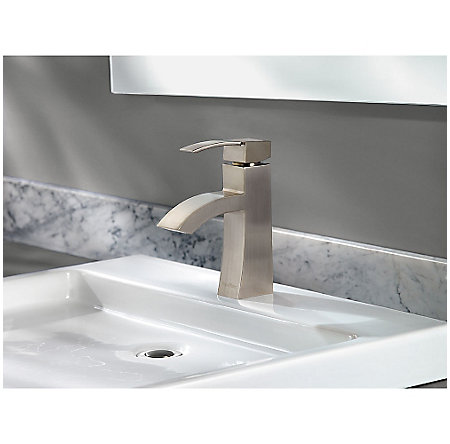 Brushed Nickel Bernini Single Control, Centerset Bath Faucet - LF-042-BNKK - 3