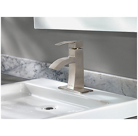 Brushed Nickel Bernini Single Control, Centerset Bath Faucet - LF-042-BNKK - 4