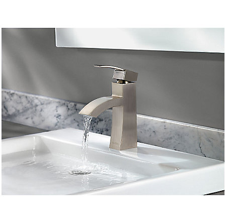 Brushed Nickel Bernini Single Control, Centerset Bath Faucet - LF-042-BNKK - 5