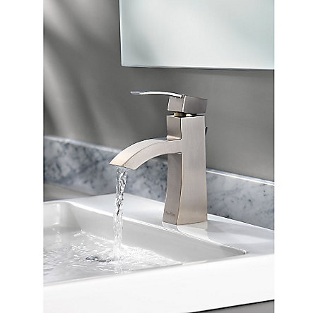 Brushed Nickel Bernini Single Control, Centerset Bath Faucet - LF-042-BNKK - 6