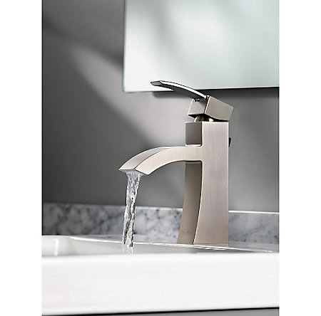 Brushed Nickel Bernini Single Control, Centerset Bath Faucet - LF-042-BNKK - 7