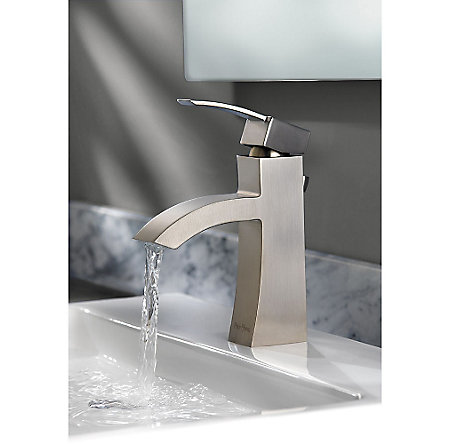 Brushed Nickel Bernini Single Control, Centerset Bath Faucet - LF-042-BNKK - 8