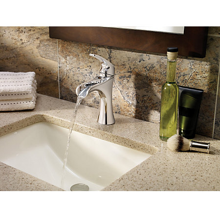 Polished Chrome Jaida Single Control, Centerset Bath Faucet - LF-042-JDCC - 3