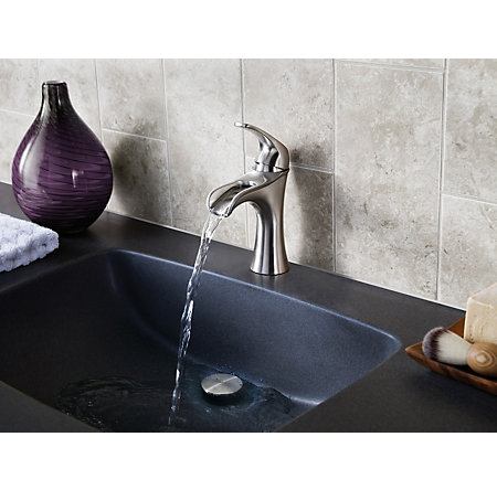 Jaida Bathroom Faucet brushed nickel jaida single control, centerset bath faucet - lf