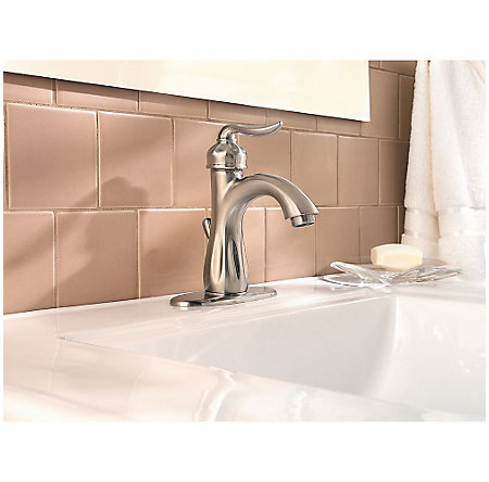 Brushed Nickel Sedona Single Control, Centerset Bath Faucet - LF-042-LT0K - 4