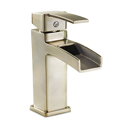 Brushed Nickel Kamato Single Control, Centerset Bath Faucet - F-042-MD0K - 1