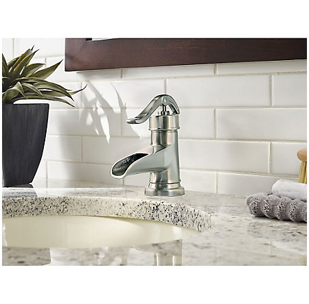 Brushed Nickel Pendleton Single Control, Centerset Bath Faucet - LF-042-PNKK - 3