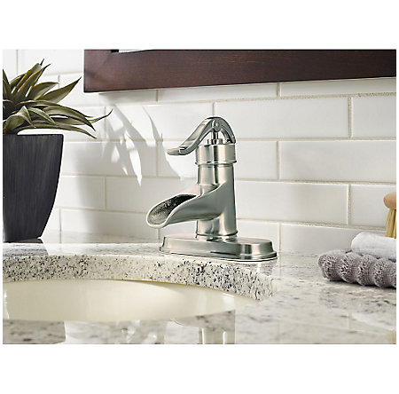 Brushed Nickel Pendleton Single Control, Centerset Bath Faucet - LF-042-PNKK - 4