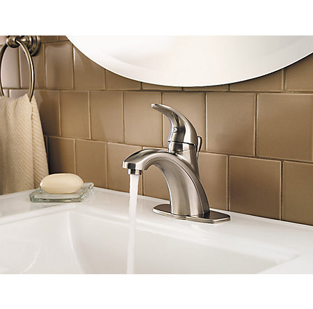 Brushed Nickel Parisa Single Control, Centerset Bath Faucet - LF-042-PRKK - 6