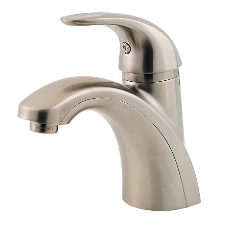 Brushed Nickel Parisa Single Control, Centerset Bath Faucet - LF-042-PRKK - 1