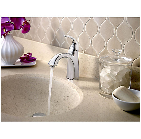 Polished Chrome Selia Single Control, Centerset Bath Faucet - LF-042-SLCC - 4