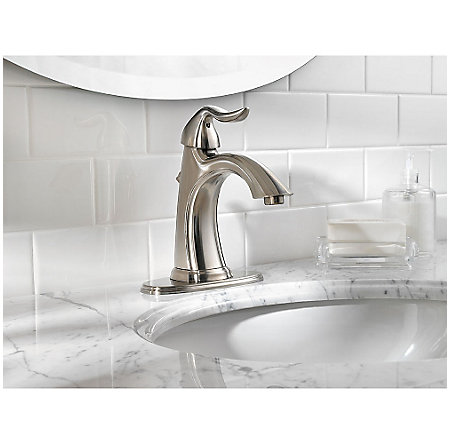 Brushed Nickel Santiago Single Control, Centerset Bath Faucet - LF-042-ST0K - 4