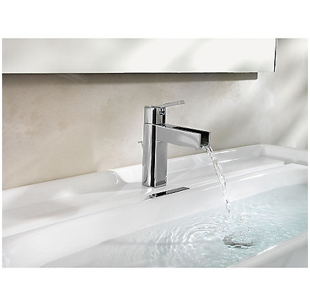 Polished Chrome Vega Single Control, Centerset Bath Faucet - LF-042-VGCC - 5