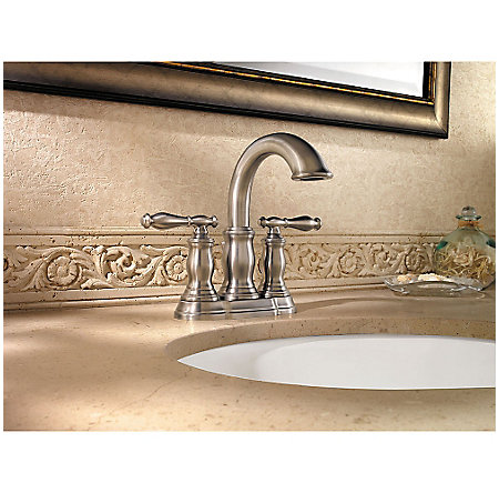 Brushed Nickel Hanover Centerset Bath Faucet - LF-043-TMKK - 2