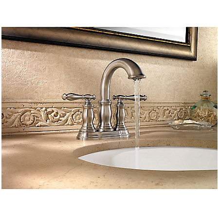 Brushed Nickel Hanover Centerset Bath Faucet - LF-043-TMKK - 3